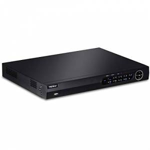 TRENDnet 16-Channel H.264/H.265 PoE+ NVR, 1080p HD, up to 12TB storage (HDDs not included), Supports one 4K Camera Channel, 16 PoE+ ports, 150W PoE Power Budget, Rackmount, TV-NVR416