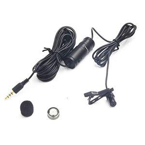 Nicama Micrófono de lavalier  LVM1 Omni-direccional condensador solapa clip-on micrófono con 1 protector de viento para cámara DSLR Canon Nikon Sony videocámaras grabadoras de audio Smartphones iPhone PC Macbook