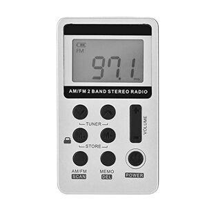 Pangding Radio FM/Am, Mini Radio portátil de Bolsillo Receptor inalámbrico de procesamiento de señal Digital con Auricular