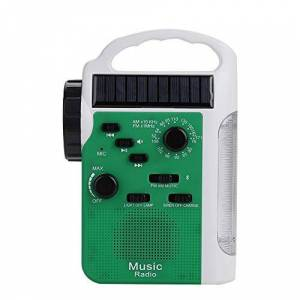 Taidda Radio de manivela, 76-108MHz FM / 530-1710KHz Am Radio FM Solar Bluetooth Llamada Manos Libres Radio Solar de manivela(1#)