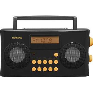 Sangean PR-D17 AM/FM-RDS Radio portátil especialmente diseñada para personas con discapacidad visual con mensajes de voz guiados, color negro, 10 presets de estación (5 AM, 5 FM), interruptor estéreo/mono, temporizador de alarma
