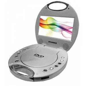 Sylvania SDVD7046 7-Inch Portable DVD Player with Integrated Handle (Silver)
