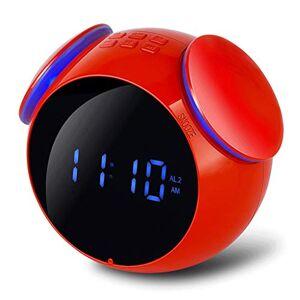 ZS Radio De Audio con Conector De Voz A Prueba De Agua Y Al Polvo, Función De Llamada Inalámbrica Bluetooth Mini Despertador Creativo ( Color : Red )