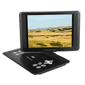 Bewinner Personal DVD Player Portable, 13in 270 ° Rotation Reproductor de DVD portátil, U Disk, SD / MS / MMC Tarjeta habilitada para enchufar, Radio FM, Cientos de TV por cable / TV inalámbrica Reproductor de CD DVD (enchufe de EE. UU.)