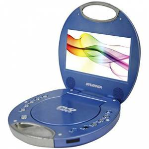 Sylvania SDVD7046-Blue 7-Inch Portable DVD Player with Integrated Handle, Blue