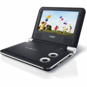 Coby TFDVD7009 7-Inch Portable DVD/CD/MP3 Player, Black