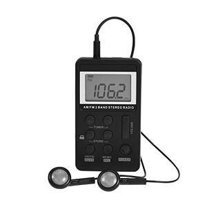 Yoidesu Radio Am/FM portátil, Mini Receptor de Radio estéreo de Bolsillo de 2 Bandas con Pantalla LCD, Auricular, batería Recargable, Utilizada en el hogar, Ejercicio al Aire Libre