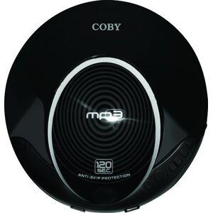 Coby Reproductor de CD MP3 (Antideslizante), Negro, 5.5 x 1 x 5 Inches