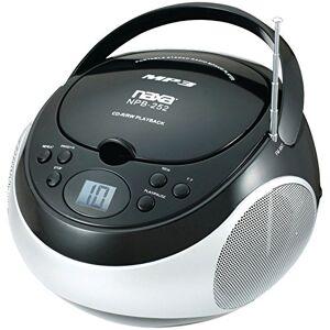 Naxa NPB-252 Analógica 2.4W Negro, Color Blanco Radio CD (Analógica, Am,FM, Jugador, CD,CD-R,CD-RW, 2.4 W, LCD)
