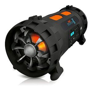 Pyle pbmspg200V2Street Blaster-x Radio portátil Boombox Altavoz con Bluetooth y NFC Streaming inalámbrico, Color Negro