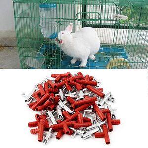 anglebless109MX 30 Piezas automático pezón de Conejo Bebedero de Agua Bebedero alimentador de Aves de Corral Conejito roedor ratón Animales de Granja Suministros para Mascotas