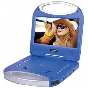 Sylvania 10-Inch Portable DVD Player with Integrated Handle and USB/SD Card Reader, Blue