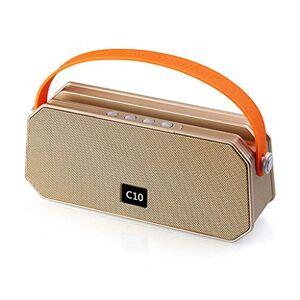 ZS Audio al Aire Libre Mano portátil KTV Mini Altavoz inalámbrico Bluetooth Subwoofer Teléfono móvil Tarjeta de Soporte pequeña ( Color : Oro )