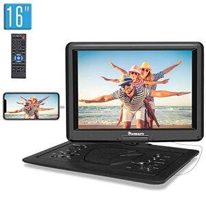 "NAVISKAUTO 1920x1080 IPS 15.6"" Portable DVD Player Support Sync Screen, Last Memory, 1080P Video, Region Free, AV Out & in, USB SD"