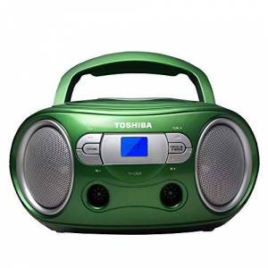 Toshiba TY-CRS9(G) Portable CD Boombox with Am/FM Stereo and Aux Input Metallic Green