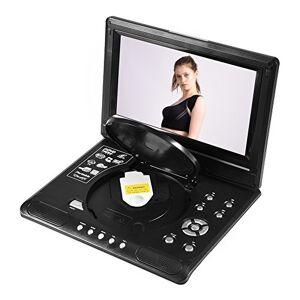 Caredy Reproductor de DVD portátil, Reproductor de DVD, Pantalla giratoria de 9 '' con batería Recargable/Soporte de Radio FM CD/DVD/Tarjeta SD/USB LCD para niños y automóviles(Nosotros)