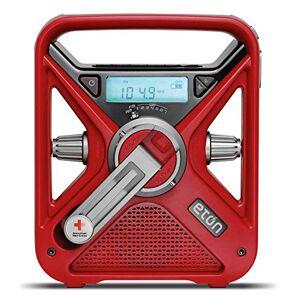 Eton American Red Cross, Cargador de Smartphone multialimentación, Radio de Alerta meteorológica y Linterna en uno, FR1, ARCFRX3 + WXR, Negro