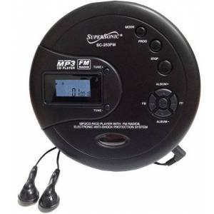 Supersonic SC253FM Personal MP3/CD Player with FM Radio