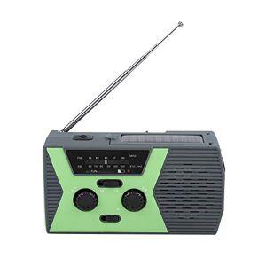 Yoidesu [Versión Mejorada] Manivela de Emergencia Autoamplificado Radio Am/FM NOAA Solar Weather con Linterna LED y Banco de energía para iPhone/teléfono Inteligente