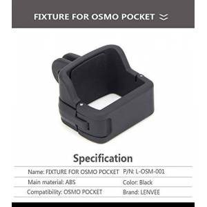BEESCLOVER For O-SMO Pocket Mount Tripod Backpack Clip for D-JI O-SMO Pocket Accessories Fixed clipelectronic Product