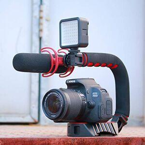 OUYAWEI Práctico para Ulanzi Pro Video Estabilizador de Mano en Forma de U Triple Zapato de Agarre para Gopro 7 6
