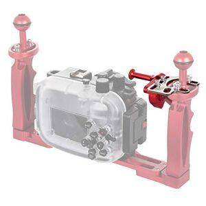 Lihuoxiu Accesorios para cámaras Montaje de palanca de adaptador de extensión de gatillo de liberación de obturador para sistema de brazo bajo el agua Soporte de cámara y estabilizadores ( Color : Red )