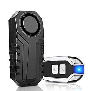YOPU Alarma de bicicleta impermeable con vibración remota para motocicleta, bicicleta, puerta, alarma antirrobo inalámbrica, alarma antirrobo de seguridad, con control remoto, IP55, resistente al agua, 113 dB súper fuerte