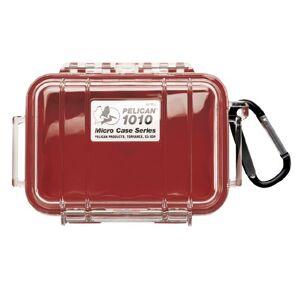 Pelican 1010Micro Case (Rojo/Transparente)