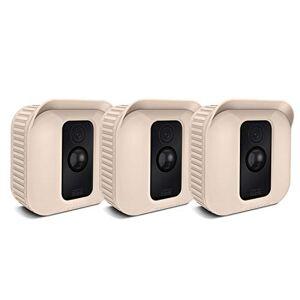 Fintie CASEBOT Funda de Silicona para Webcam Blink XT [3 Piezas] Cubierta Protectora Impermeable para Blink XT Sistema de Cámaras de Seguridad, Beige