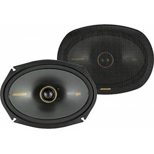 Kicker 47KSC6904 KS Series Audio de coche 6 por 9 coaxial de 15 a 150 vatios RMS Power Factory de repuesto para sistema de sonido de coche coaxial (par)