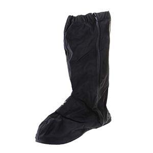 MagiDeal Motorcycle Biker Waterproof Shoes Boot Rain Cover Largo Reflectante Al Aire Libre Metro