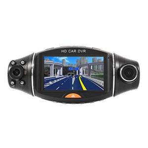 ZZH Grabador De Conducción De Coche Dvr, 2.7 Pulgadas De Doble Lente HD Grabador De Conducción De Coche Dvr con Sensor De Visión Nocturna por Infrarrojos GPS Sin Tarjeta De Memoria