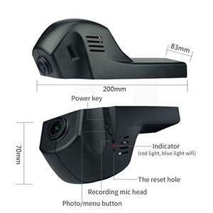 MeterMall grabadora de conducción Profesional Oculta Dashcam HD visión Nocturna 1080P teléfono Celular WiFi cámara de conexión para BMW