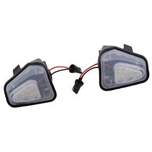 Homyl 2X Luz de Charco Espejo Lateral de Coche Bombillas Exteriores para Autos
