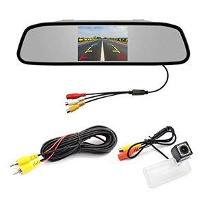aSATAH Monitor TFT para coche de 4,3 pulgadas y cámara de visión trasera para Subaru Forester SJ/Subaru Legacy/Liberty & Vehicle Camera impermeable y a prueba de golpes cámara de respaldo, 12 LED Camera