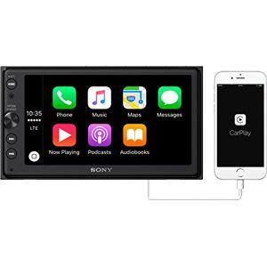 """Sony XAV-AX100 6.4"""" Car Play/Android Auto Media Receiver con Bluetooth, 6.4, Negro"""