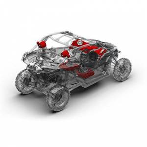 RockfordFosgate X3-STAGE5 Kit de Altavoces Traseros para Coche de 2017-18 Can-Am Maverick X3 X DS Turbo/X RS Turbo 1000 W, Altavoz Frontal, Subwoofer, Altavoz Trasero