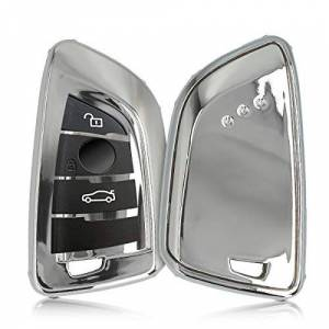 kwmobile Funda para Llave de Coche BMW Carcasa Suave de Silicona 360 Protección Total para Mando de Llave Smart Key de 3-4-botones para Coche BMW