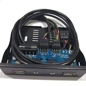 Vige 3.5 '' 2-USB 2.0 Puerto HUB Salida de Audio HD Unidad de Disquete Expansión Panel Frontal Estante móvil Digital Expanding para tu PC