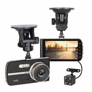 NEX Dash cam, FHD 1080P 4'' LCD, 4-Lane Wide-Angle View Lens, Dashboard Camera Recorder with G-Sensor, Loop Recording, Night Mode, No Wifi or APP