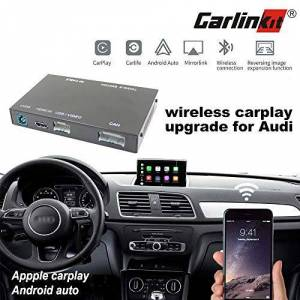 Carlinkit Receptor inalámbrico Carplay Box para Audi A3 / A4 / A5 / A6 / A7 / Q5 / (09-18) Pantalla Original Actualización de carplay estéreo, Soporte de Espejo, Reverse Track, Android Auto