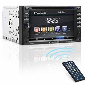 Planet Audio P9640B In-Dash Double-DIN 6.2-Inch Touchscreen DVD/CD/USB/SD/MP4/MP3 Player Receiver Bluetooth