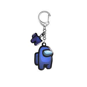 SDCX Hot Games Keychain Acrylic & Metal Colourful Keychains For Car Keys Decoration Accessories Toys Key Chain metal2deepblue