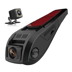 SDRFSWE Dual FHD 1080P Dash CAM Cámara Delantera Y Trasera De Doble Cámara para Autos Que Conducen La Grabadora DVR,64GB