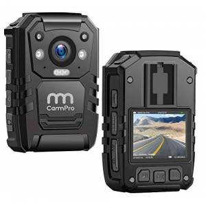 CammPro 1296P HD Police Body Camera,128G Memory, Premium Portable Body Camera,Waterproof Body-Worn Camera with 2 Inch Display,Night Vision,GPS for Law Enforcement Recorder,Security Guards,Personal Use