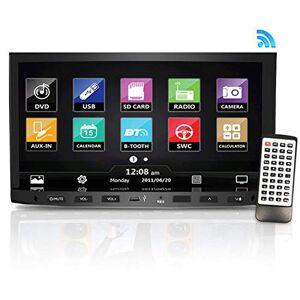 Pyle PLDNV695B Unidad Central receptora de Video de 7'' con navegación GPS, Bluetooth, transmisión inalámbrica, Reproductor de CD/DVD, Chasis DIN Doble