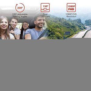 SDRFSWE Dash CAM Fhd 1080P + 1080P 2Inch Car Dvr Cámaras con Doble Objetivo Vehículo Grabador De Video Trasero Grabador Dvr De Conducción Grabación En Bucle