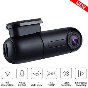 SDRFSWE Cámara DVR para Coche 1080P Full HD Visión Nocturna Dash CAM Cámara para Auto WiFi Grabadora De Conducción Automática G-Sensor Control De Voz,16Gcard