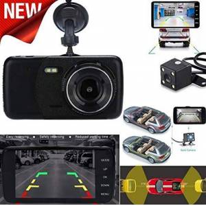 SDRFSWE Hot 4 LCD IPS Dual Lens Car Dash CAM FHD 1080P Dashboard Camera 170 Conducción DVR Coches De Alta Calidad 3.22