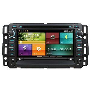 Maxtrons Radio estéreo para coche con navegación GPS para Chevrolet Chevy Tahoe Avalanche Suburban Silverado Impala Ma HHR 3500 GMC Acadia Yukon Sierra para control del volante